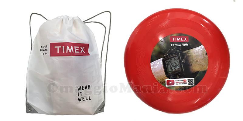 shopping bag o frisbee omaggio da Timex