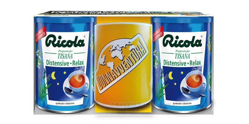 tazza Donnavventura omaggio con tisane Ricola
