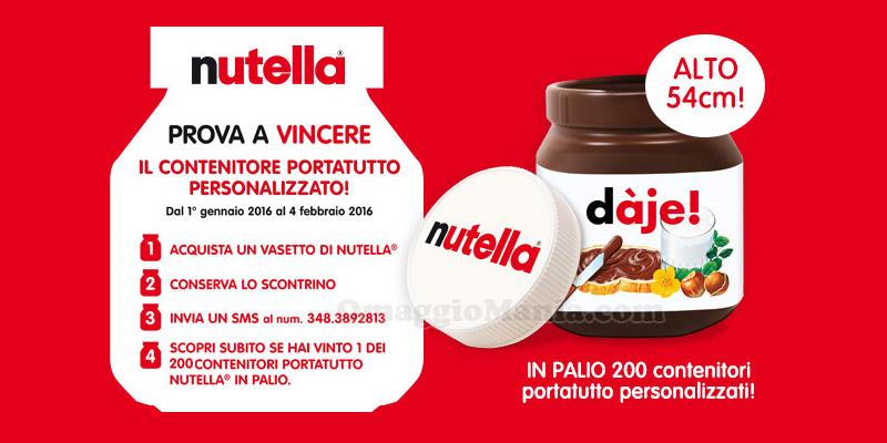 vinci contenitore portatutto personalizzato Nutella