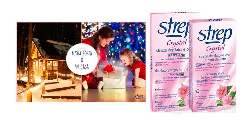 vinci strisce depilatorie Strep Crystal Natale 2015