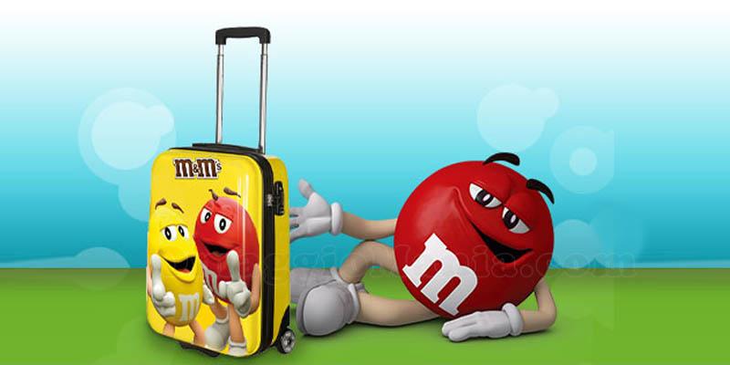 vinci valigia M&M's