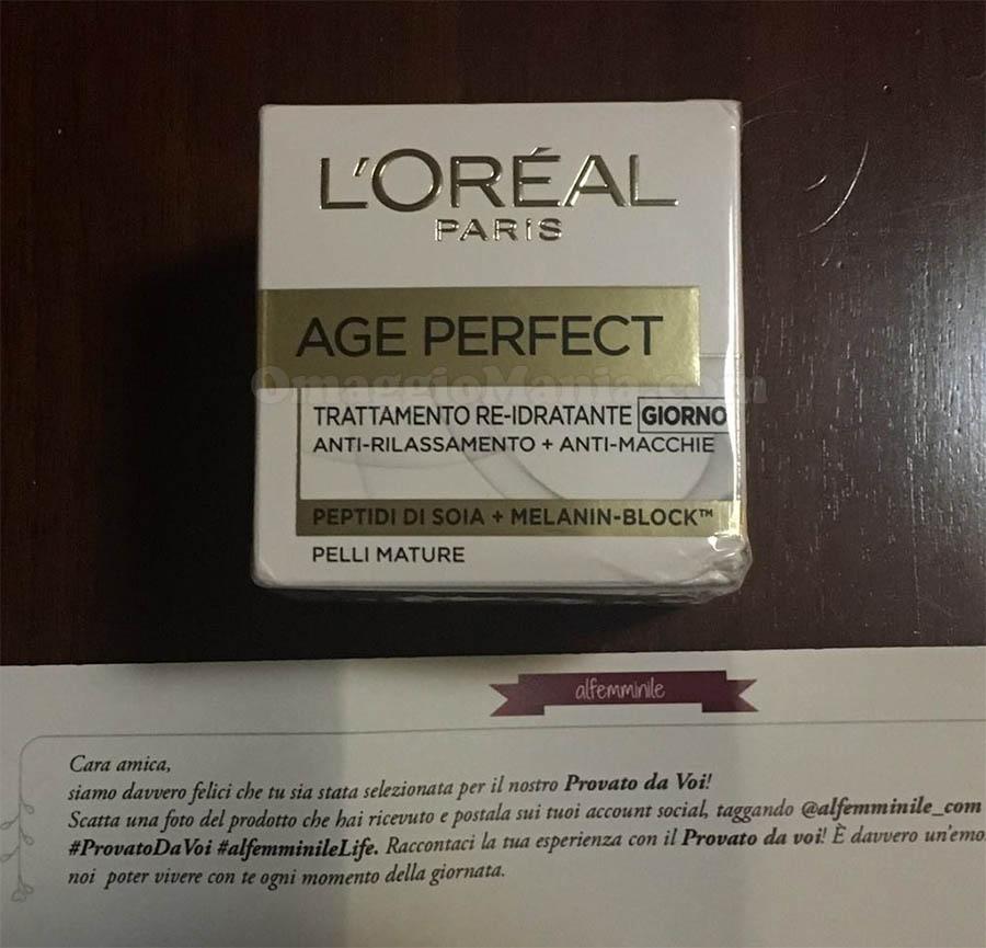 L'Oreal Age Perfect ricevuto da Lorena
