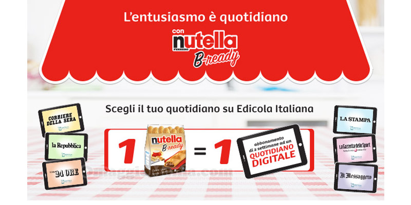 L'entusiasmo è quotidiano con Nutella B-ready