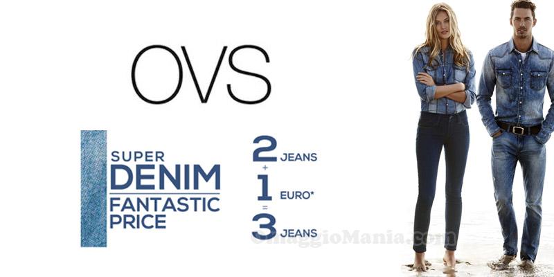 OVS prendi 2 jeans e il terzo è a 1 euro