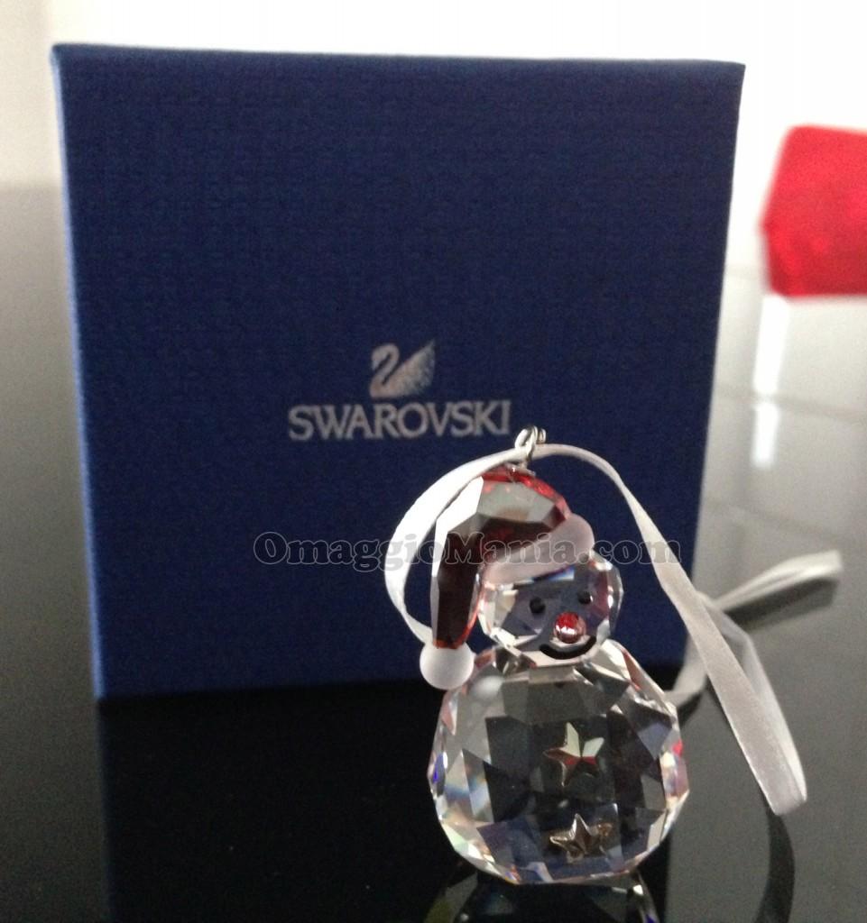 Rocking Snowman Ornament Swarovski di Marlen