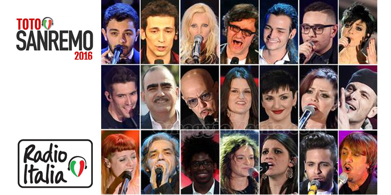 TotoSanremo 2016 Radio Italia