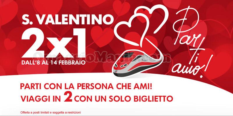 Trenitalia Speciale 2x1 per San Valentino