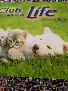 calendario 2016 Club Amici di Life ricevuto da Lorenza