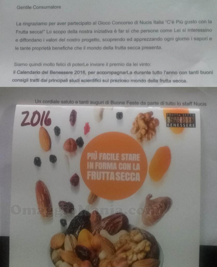 calendario del benessere Nucis 2016 di Loredana