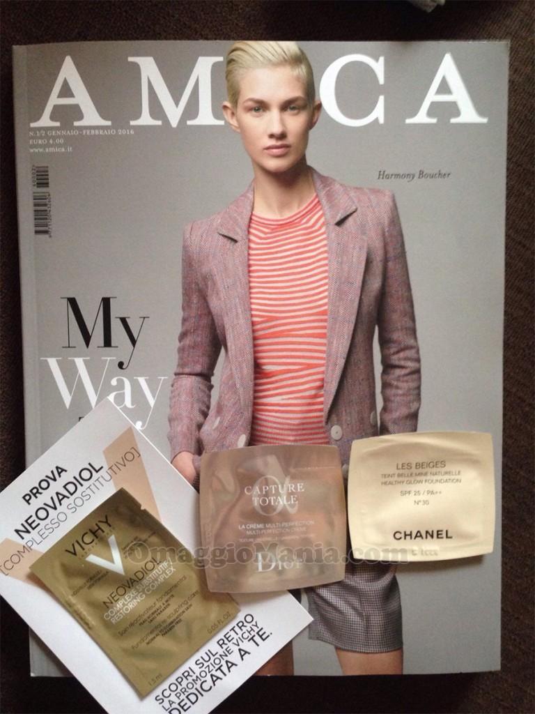 campioni omaggio con la rivista Amica di febbraio 2016