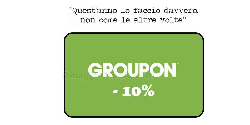 codice sconto Groupon 10% buoni propositi 2016