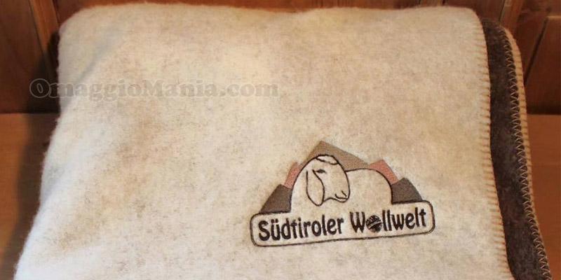 coperta di lana di pecora Südtiroler Wollwelt
