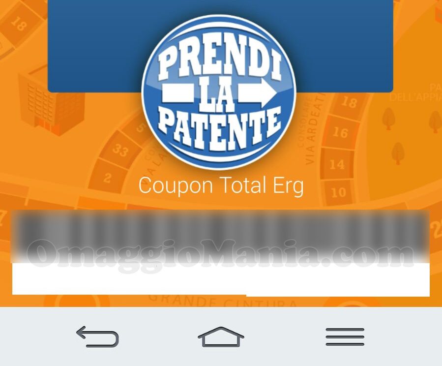 coupon Total Erg con Prendi la patente