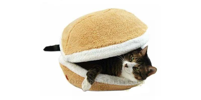 cuccia-hamburger per gatto