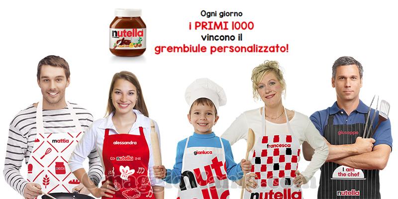grembiule personalizzato Nutella omaggio