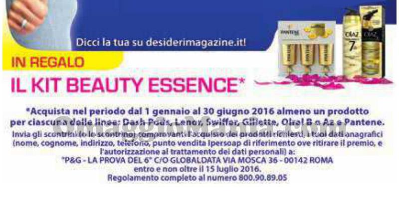 kit Beauty Essence omaggio da IperSoap