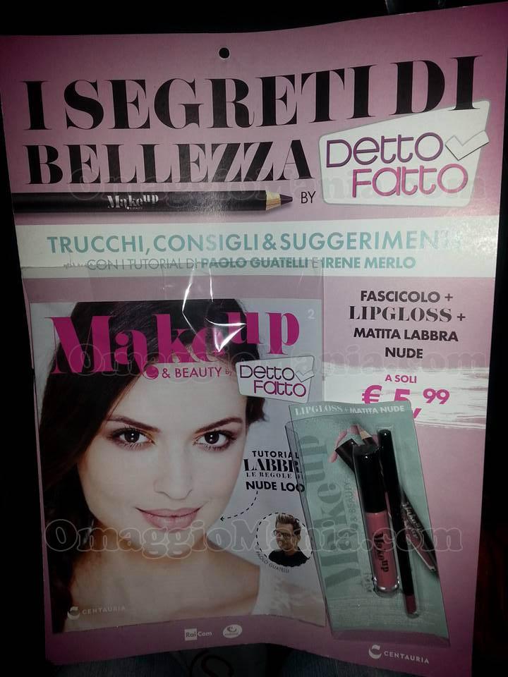 lipgloss e matita labbra nude con Makeup & Beauty by Detto Fatto