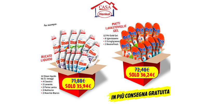 prezzi da grossista Casa Henkel