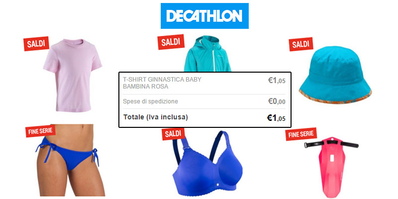 shopping quasi gratis da Decathlon 2016 t-shirt
