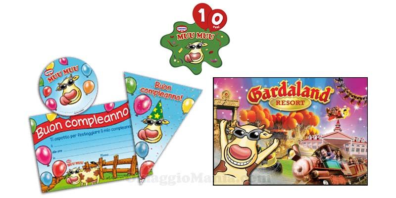 vinci kit compleanno o gardaland con Muu Muu Cameo