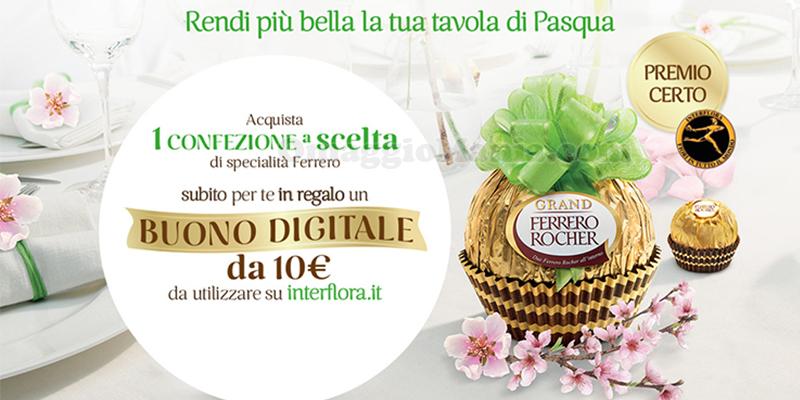 Ferrero buono Interflora omaggio