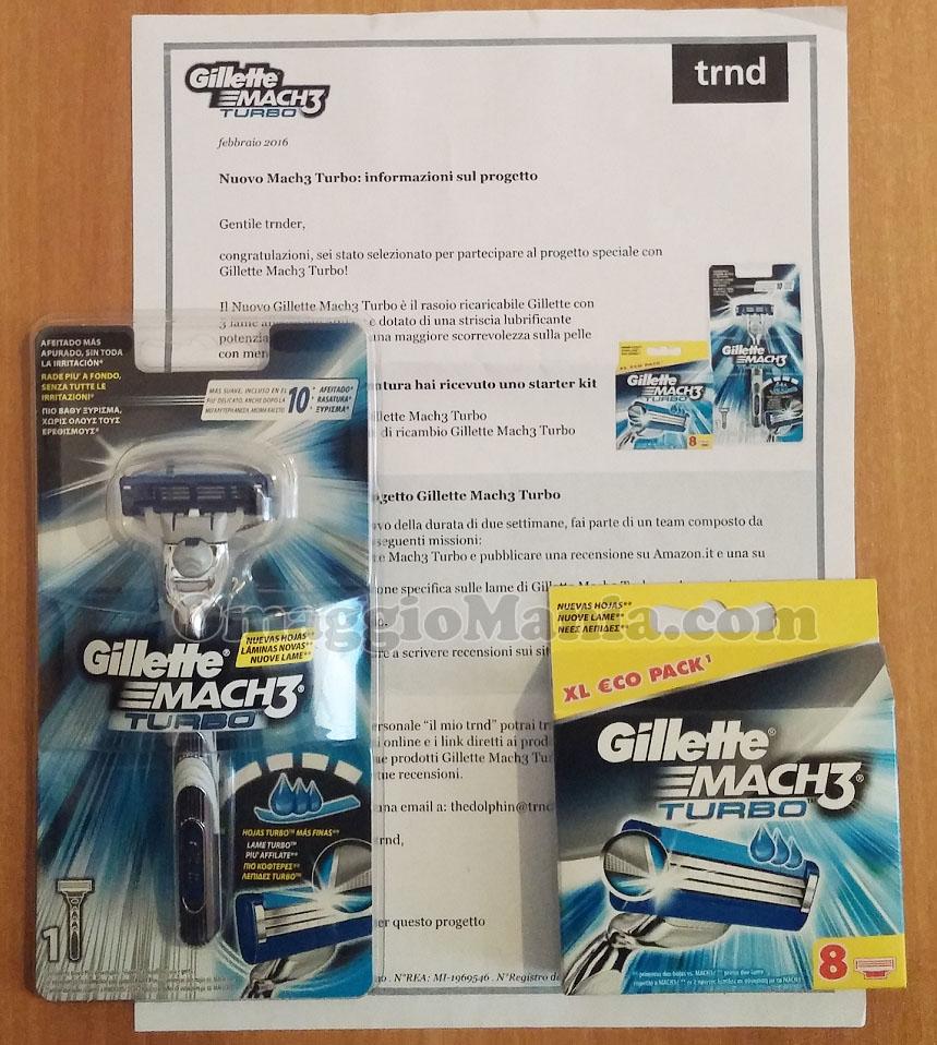Gillette Mach3 Turbo ricevuto da Francesco