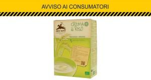 avviso consumatori Coop crema di riso Alce Nero
