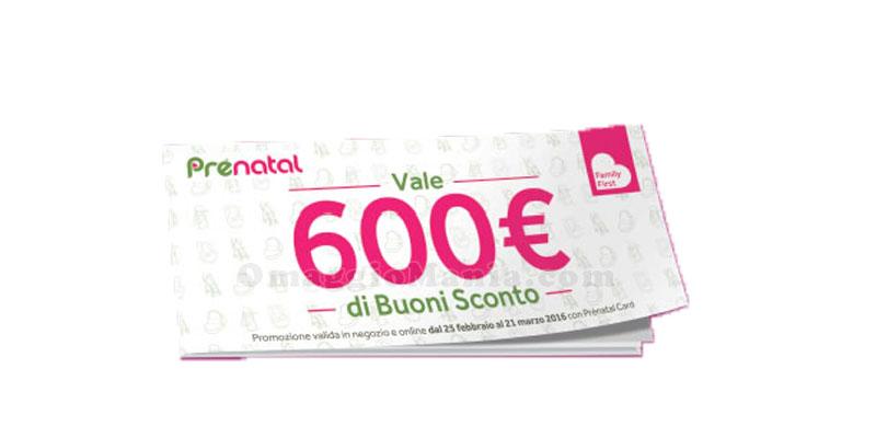 buoni sconto Prenatal fino a 600 euro