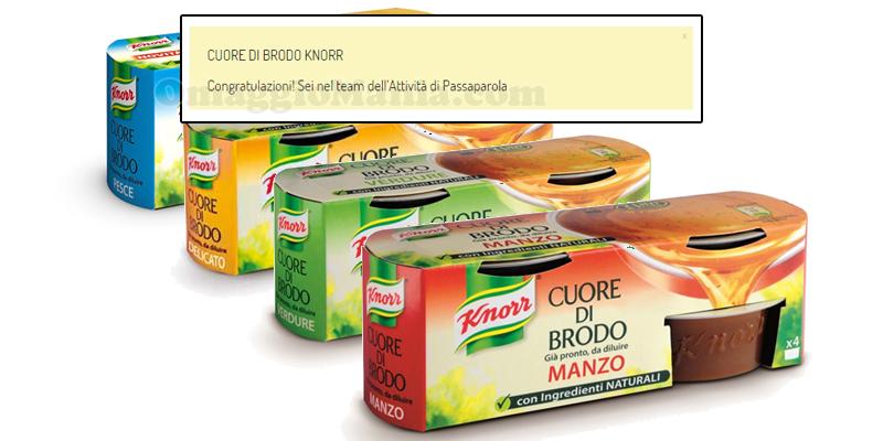 congratulazioni tester Cuore di Brodo Knorr