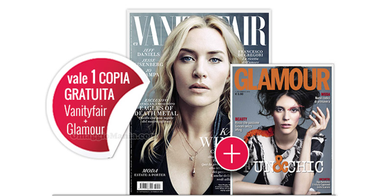 coupon 5 Vanity Fair e Glamour omaggio