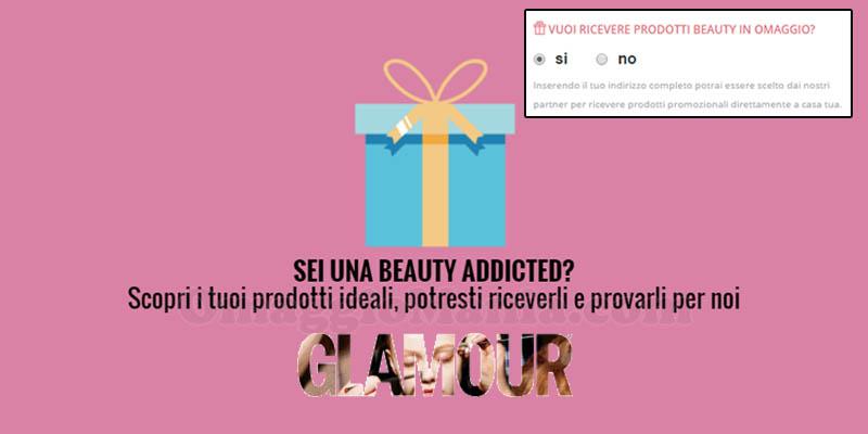 diventa tester di Glamour prodotti omaggio