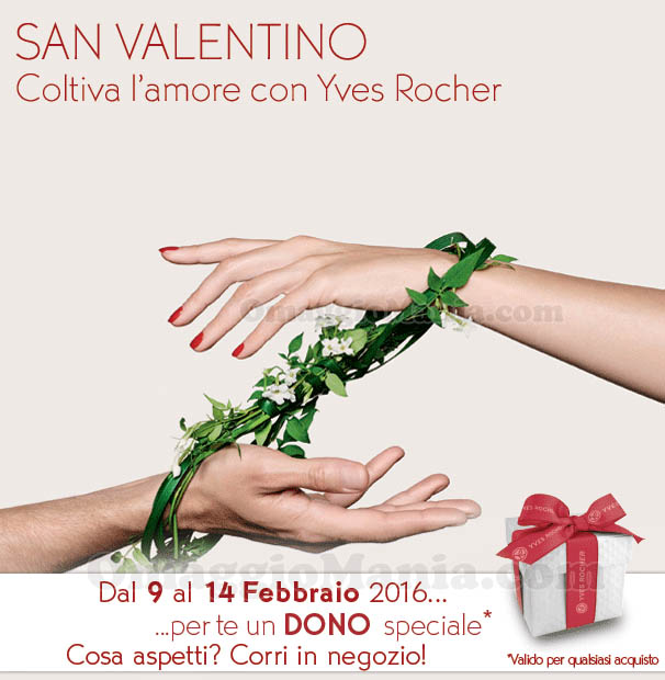 dono speciale San Valentino Yves Rocher