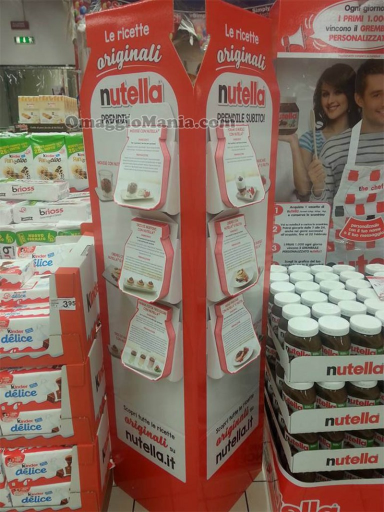 espositore Le ricette originali Nutella