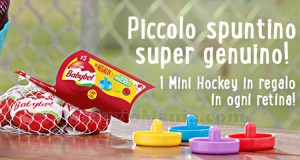 mini hockey omaggio con Babybel