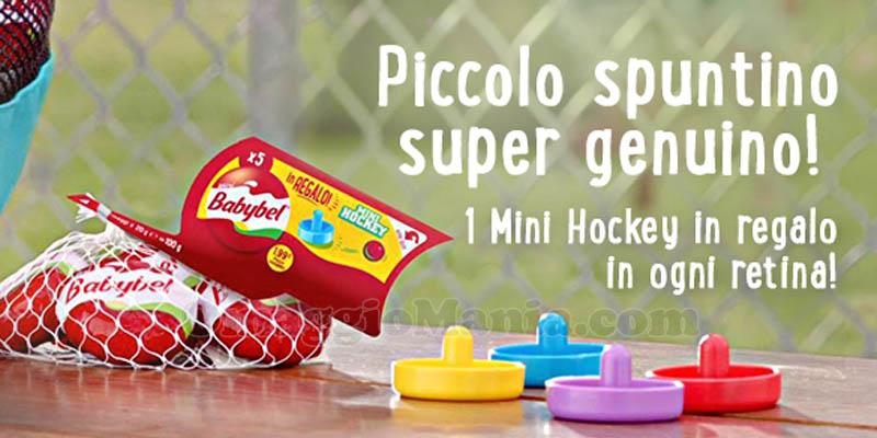 mini hockey omaggio con Babybel