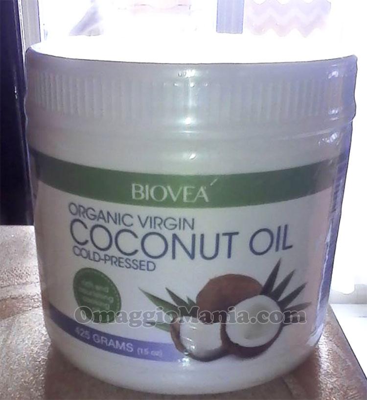 olio di cocco Biovea vinto da Renzo