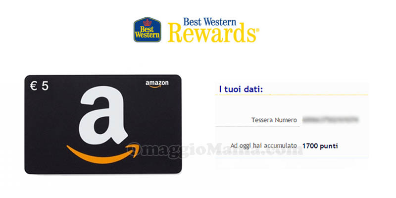 punti accumulati Best Western Rewards