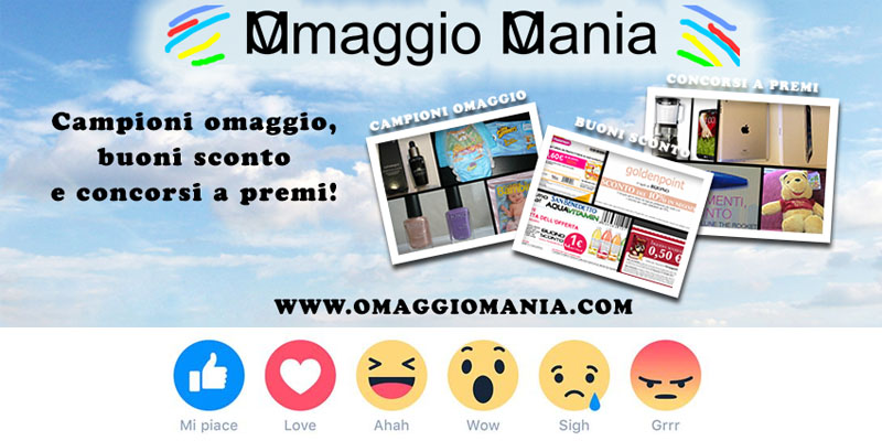 reactions Facebook OmaggioMania