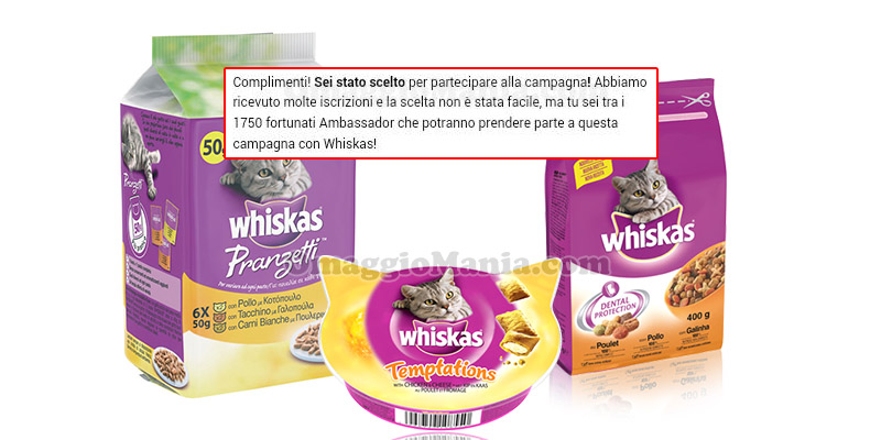 selezione tester Whiskas The Insiders