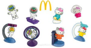 sorprese spaziali McDonald's Hello Kitty e Tartarughe Ninja