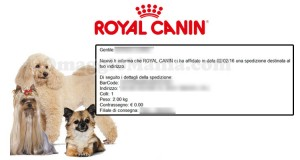 spedizione da Royal Canin di Ilaria