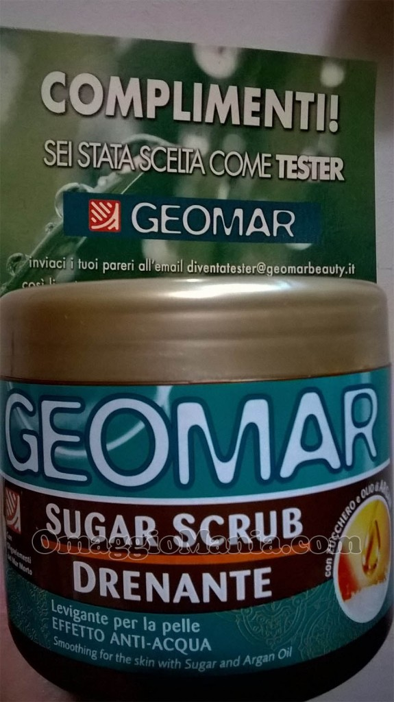 sugar scrub drenante Geomar di Elena