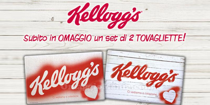 tovagliette colazione Kellogg's in omaggio