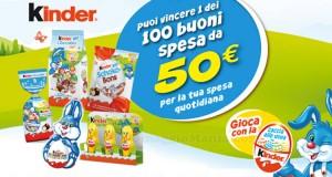 vinci buoni spesa con i prodotti pasquali Kinder