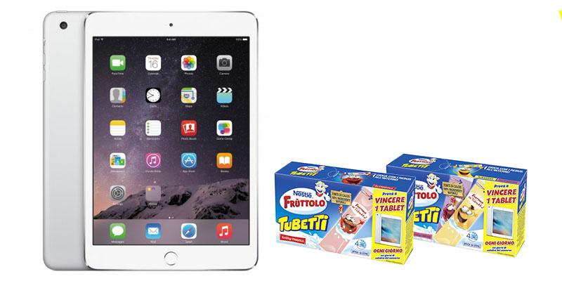 vinci iPad con Fruttolo Tubetti Nestlé