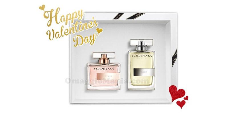 vinci kit di profumi Yodeyma per San Valentino