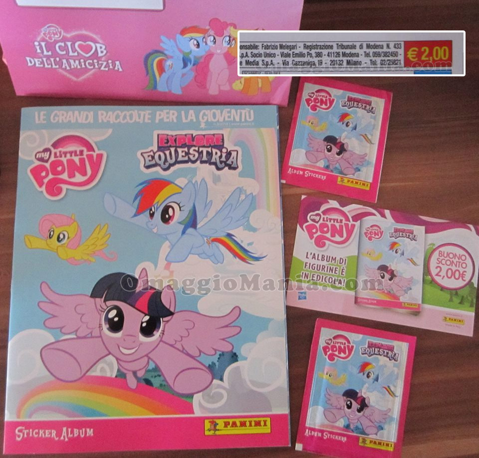 Album figurine My Little Pony Explore Equestria di Lamù