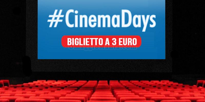 CinemaDays 2016 biglietti 3 euro