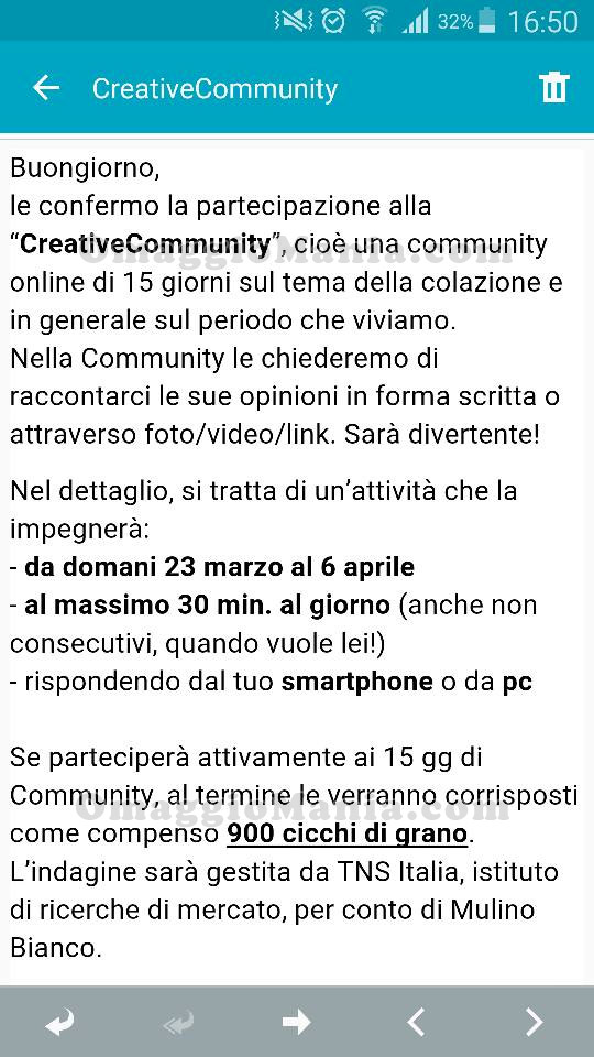 CreativeCommunity Mulino Bianco Valentina