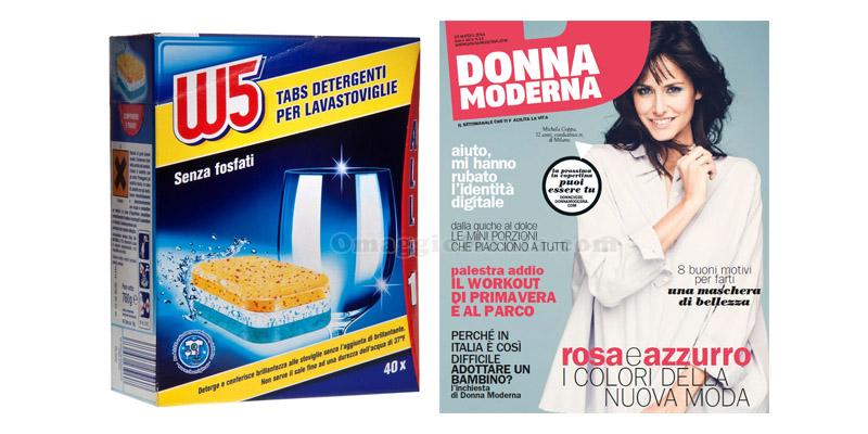 W5 tabs lavastoviglie omaggio con Donna Moderna